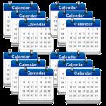 12 calendars, 12 month subscription